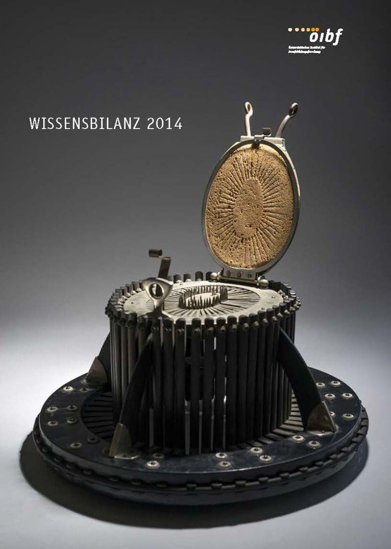 Coverbild Wissensbilanz 2014 - antiker Gegenstand